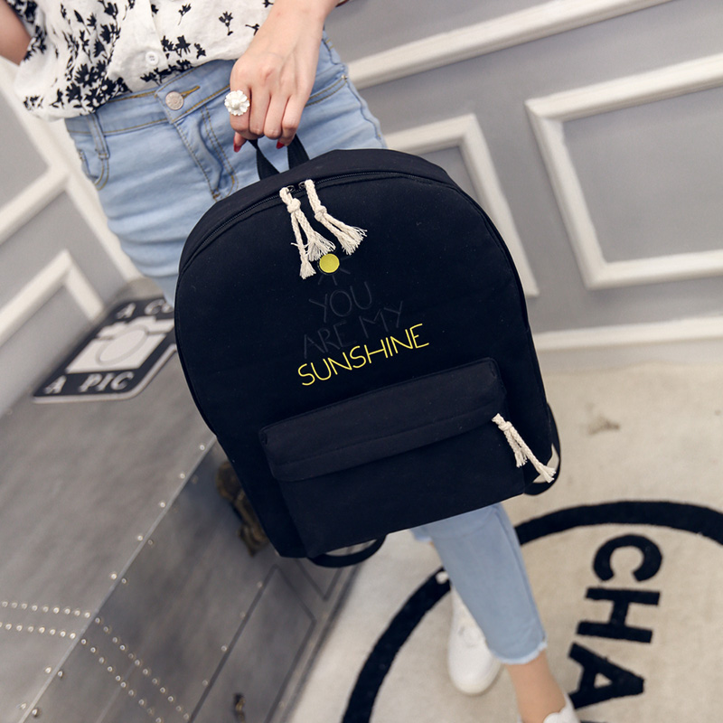 Korean Style Pure Women Girl Backpack Candy Colorful Canvas Bags Student School Book Bag Leisure Backpack BP0010 pretty style pure color canvas women backpack college student school book bag leisure backpack travel bag