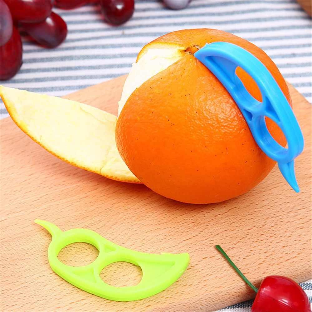 Increíble creativo de mano de manga de dedo limón cebolla tomate fruta rebanadora naranja peladores zesters utensilios de cocina gadgets