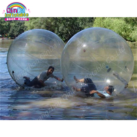 2m PVC Inflatable Water Walking Ball, Pool Float Water Balloon Zorb Ball Inflatable Human Hamster Plastic Ball