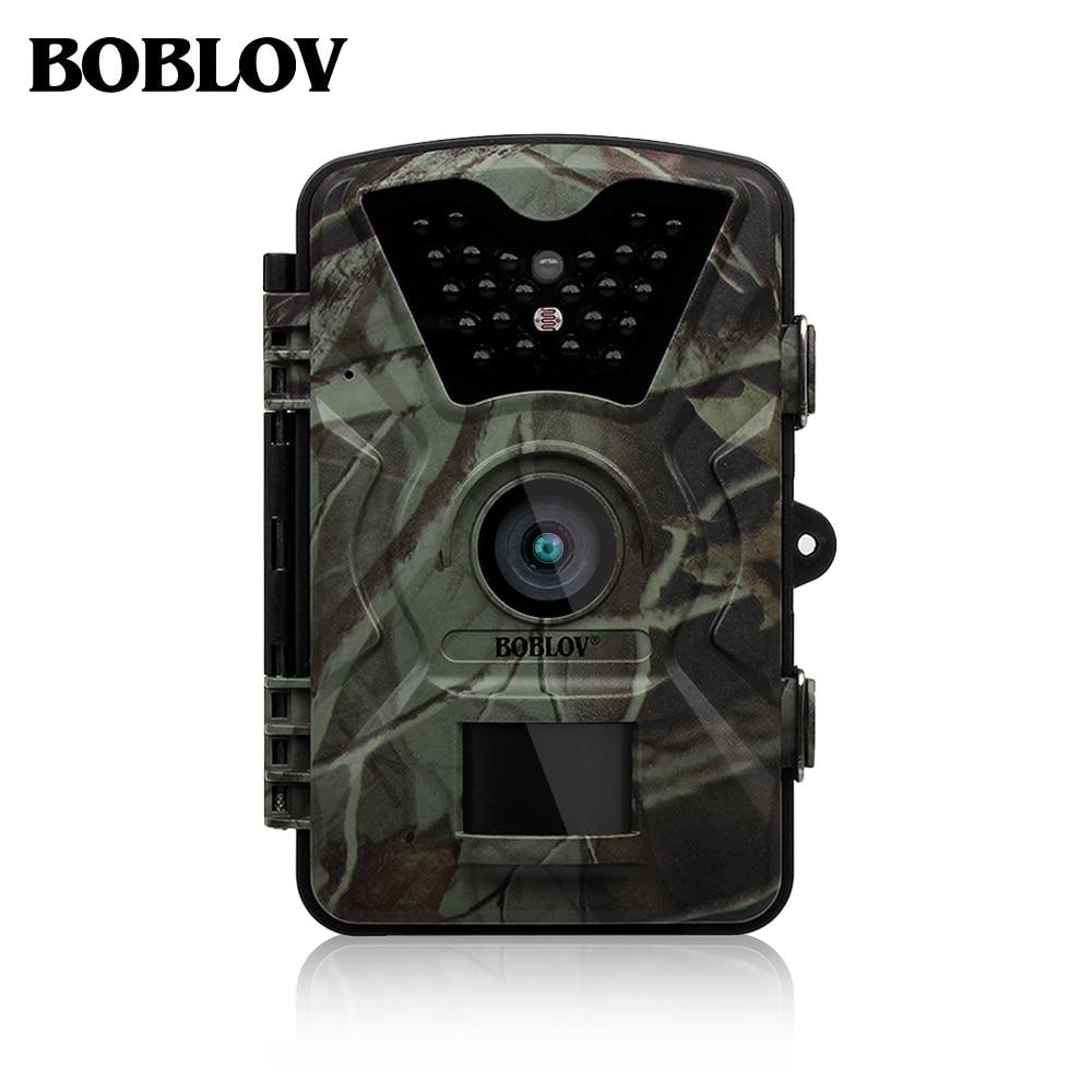 Boblov CT008 12MP 1080P HDハンティングカメラトレイルカメラビデオスカウティング赤外線ナイトビジョンタイムラプス65フィート90度PIR EYOYO