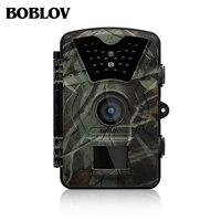 Boblov CT008 12mp 1080 وعاء مزرعة لعبة الصيد تريل الحياة البرية الكشافة كاميرا للرؤية الليلية مع مرور الوقت 65ft 90 درجة البير