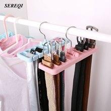 ФОТО sereqi tie belt  storage rack space saver rotating scarf ties hanger holder hook closet organization holder