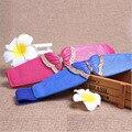 [Himunu] nueva Correa Decorativa Cinturones Elásticos para Las Mujeres Flores de Ancho Cinturón Elástico de la Pretina de Moda Rojo Negro Blanco Rosa Camello