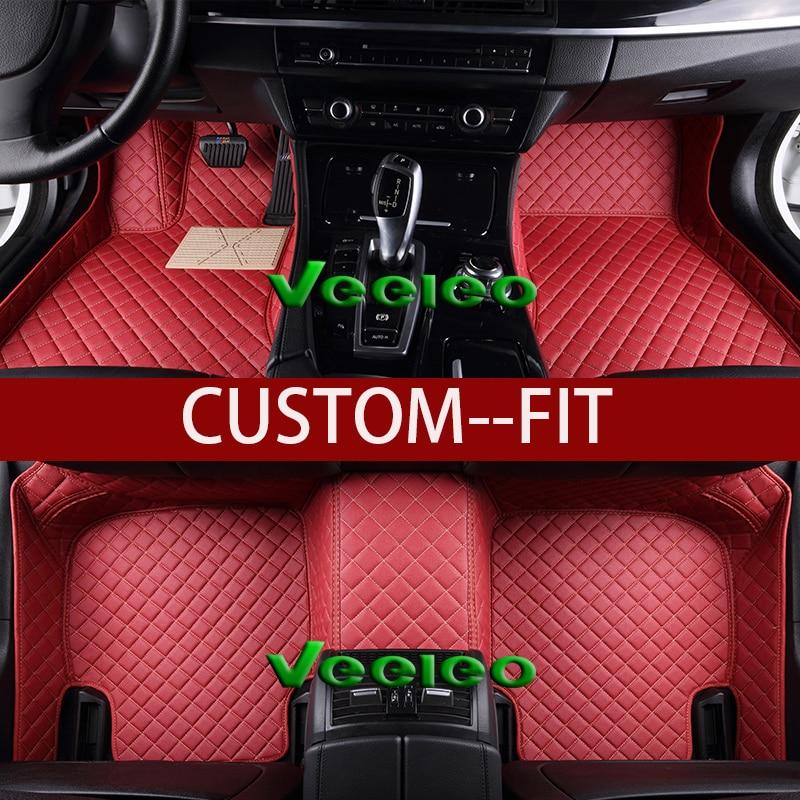 2008 Mitsubishi Galant Interior: Veeleo+Custom Fit 8 Colors Leather Car Floor Mats For