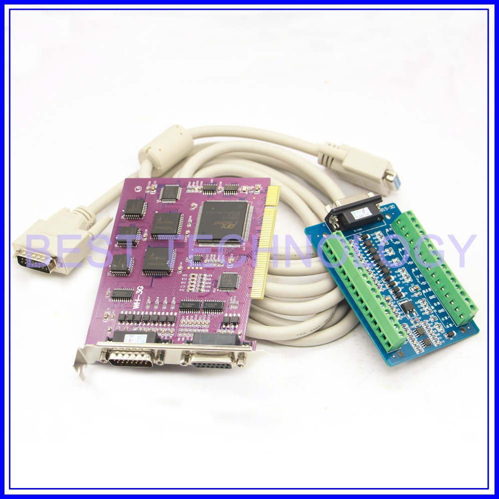 NC Studio 3G motion control card PCIMC 3G Servo handwheel card CNC 3Axis Interface Adapter Breakout