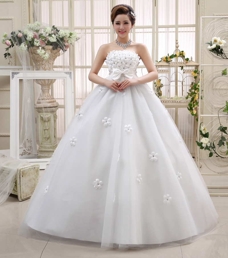 2015 New Wedding Dress High Quality Strapless Pregnant Bride Dress ...