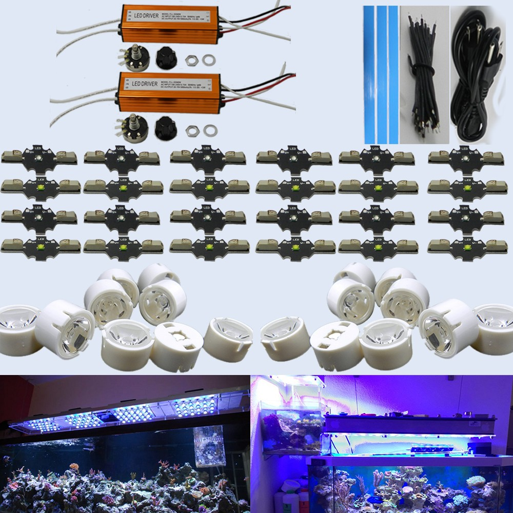 Dimmable 30w 60w 90w solderless cree Led Aquarium lighting for 120w 150w 300w led coral reef tank light salt water MARINE TANK