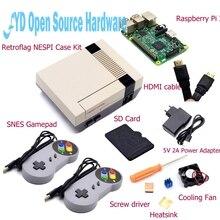 1set NESPI Case with Raspberry Pi 3+16G Card+Fan+2pcs SNES Gamepad+EU Power Adapter+Heatsink+HDMI Cable for RetroPie