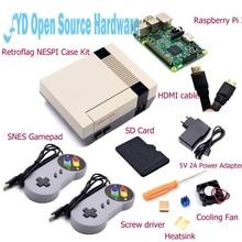 Buy 1set NESPI Case with Raspberry Pi 3+16G Card+Fan+2pcs SNES Gamepad+EU Power Adapter+Heatsink+HDMI Cable for RetroPie