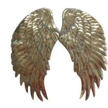 Железные нашивки для одежды футболка женщин 33 см крылья расшитые