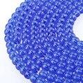 Azul Onyx Ágata Contas de Pedra Naturais Para Fazer Jóias de vidro Colar Pulseira Diy 6mm 8mm 10mm 12mm Fio Grosso