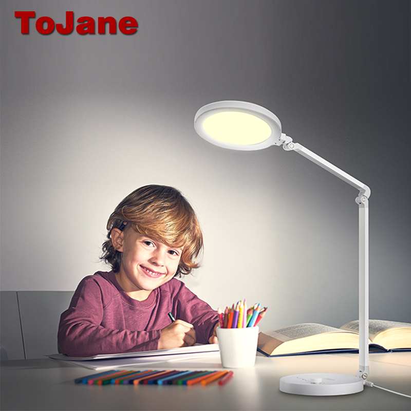 ToJane Desk Lamps Adjustable Lighting Led Desk Lamp CCC Table Lamp Desktop Folding Table Lamp Eye Care Office Light TG2522