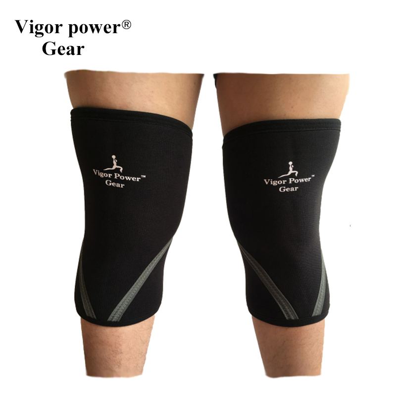 VPG-WL1406  Free shipping  Vigor Power Gear weight lifting knee sleeves for powerlifting, fitness sports for women and men