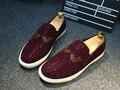 Только настоящая любовь Новый мужчины мокасины из натуральной кожи стразы скольжения на платформе квартиры случайные вождения обувь размер: 38-42 YJN-369