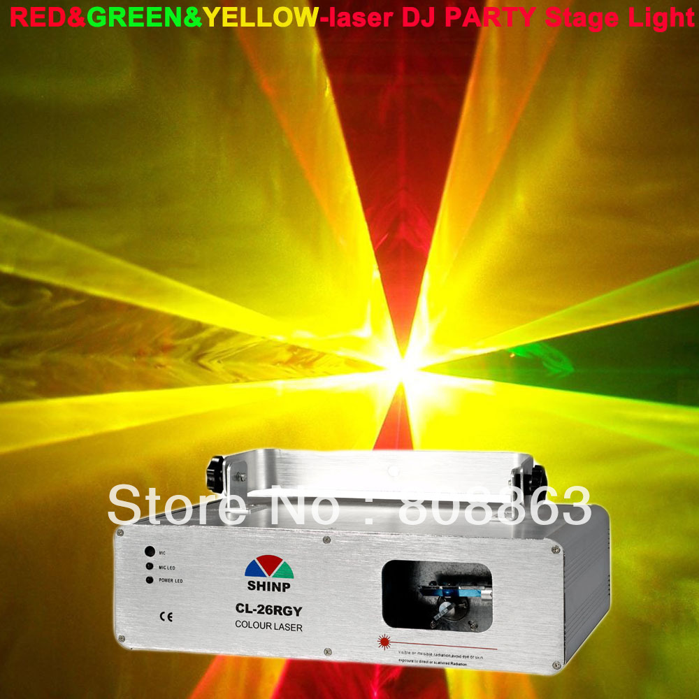 new 280mw Green Yellow Red Laser projector Party Bar Club lighting light show DJ Disco Dance KTV Professional Stage Light system