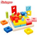 Children's Toy Wooden Building Blocks Color Toy For Color And Shape Identification Exerciseand Shape Identification Exercise