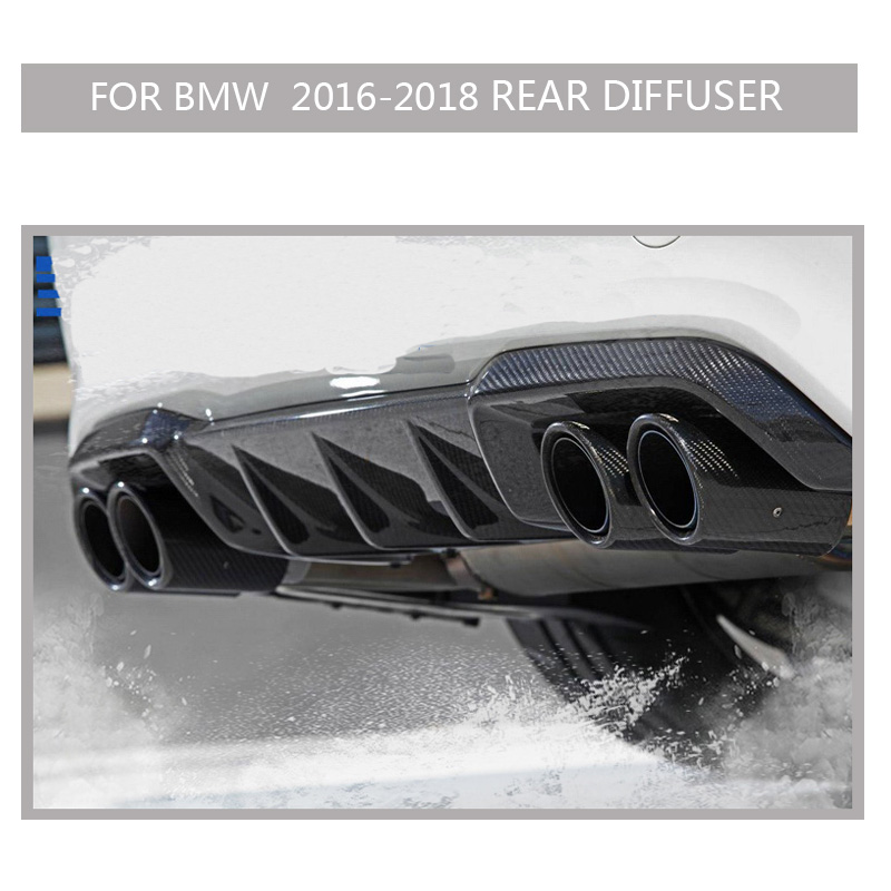 F87 คาร์บอน M2 กันชนสำหรับ BMW M2 2016-2018 2PCS สติกเกอร์รถกันชนด้านหน้ากันชน FINS สปอยเลอร์ canards กรณี