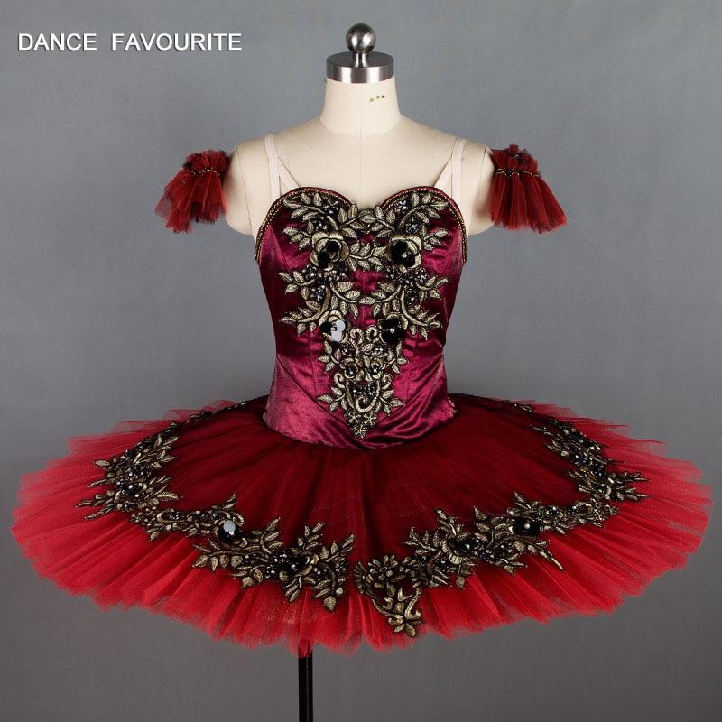 Dance Favourite Burgundy Professional Ballet Tutu Pancake ballet tutu dance performance tutu ballerina dance costumes tutu
