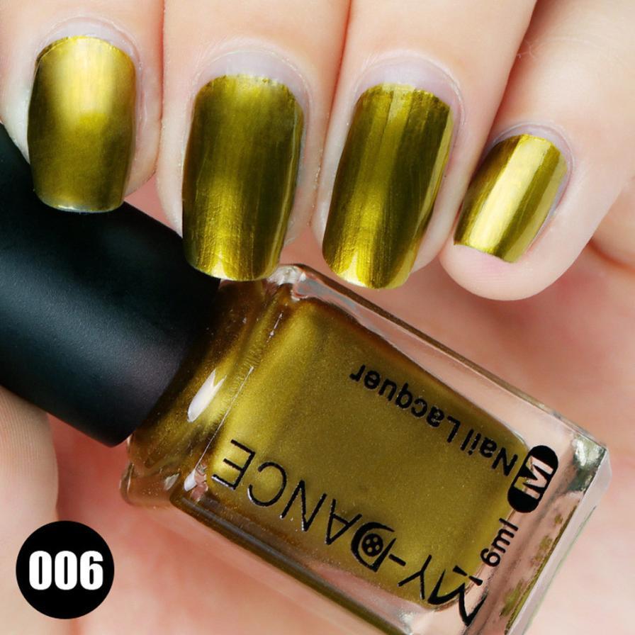 6ml High Quality Nail Polish Flow Gold Mirror Chrome Effect Foil ...