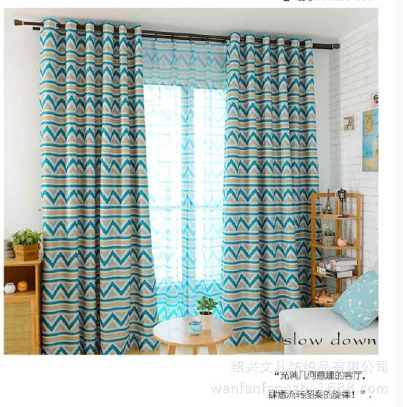 America Mordern European Horizontal Stripes Blackout Window Curtains For Living Room Bedding Decor Drape Cortinas