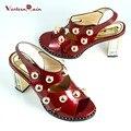 2017 Sapato Feminino Hot Sale Pu Dames Schoenen Shoes Summer Sandals High-grade High Heeled Footwear Women African For Parties