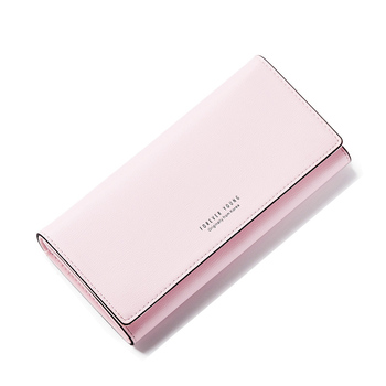 Women's Solid Color Elegant Wallet Bags and Wallets Hot Promotions New Arrivals Women's Wallets Color: Pink