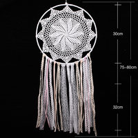 High Quality White Lace Dreamcatcher Wind Chimes Indian Style Feather Pendant Dream Catcher Regalo Car