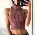 2017 Autumn Winter New Women Bottom Sweater High Collar Short Loading Slim Sleeveless Women's Sweater Pullover Lowest Price