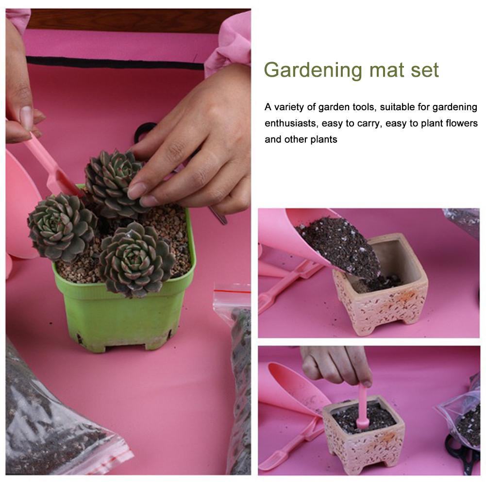 Succulent Gardening Mat Set Transplanting Repotting Plant Work Cloth Waterproof