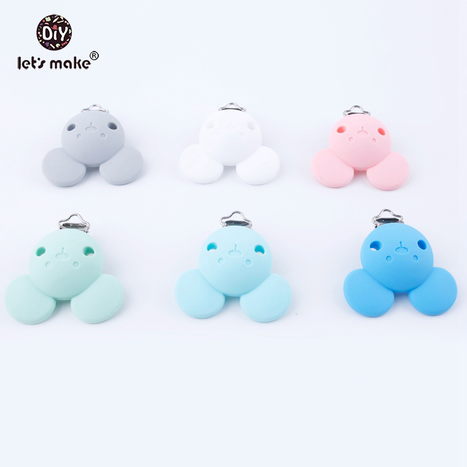 Lets Make 20pc BPA Free Pacifier Clips Bear Head Shape Holder Cartoon Clip For DIY Dummy Clip Accessories Feeding Toy Clips