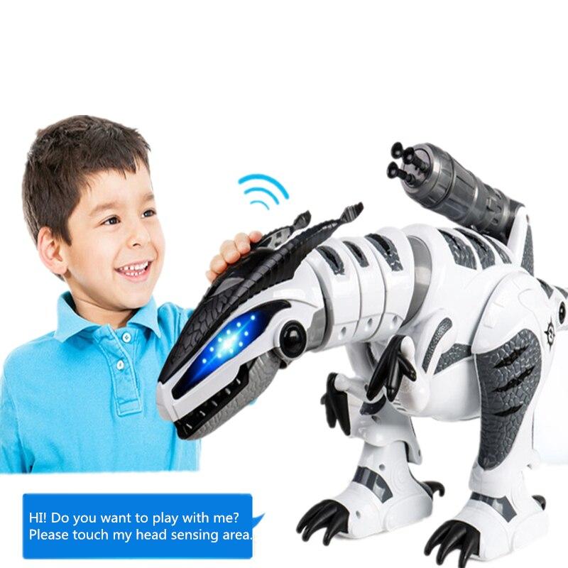 Dinosaure robots marche dinosaures électronique dinosaurio jouets interactive à distance jouets Interactifs Robots jouet robot rc - 2