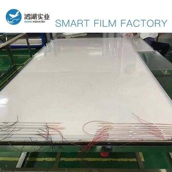 100x100cm Electric Self-adhesive PDLC Film Smart Tint Film Switchable Pravicy Glass Window Door Tint Smart Film