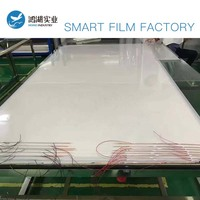 100x100cm Electric Self adhesive PDLC Film Smart Tint Film Switchable Pravicy Glass Window Door Tint Smart Film