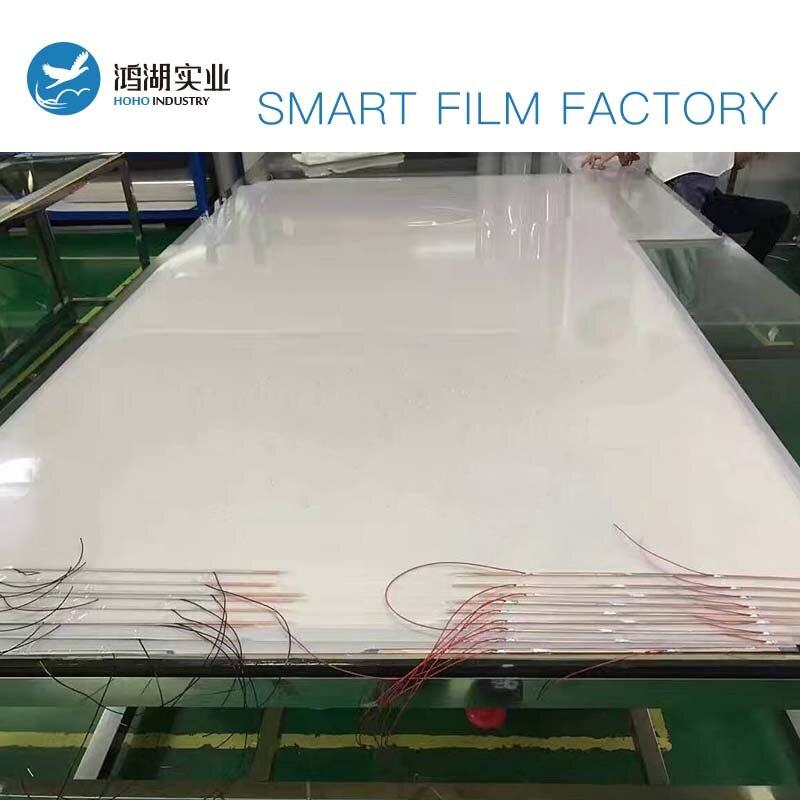 PDLC Film adhésif électrique blanc | Film de teinte intelligent, en verre pravglacial, commutable, pour la maison et le bureau, 2 pièces 1192x1892mm