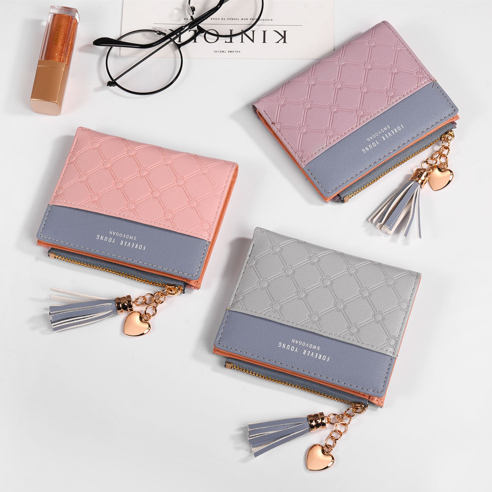 New Women's Cute Fashion Purse Leather Long Zip Wallet Coin Card Holder Soft Leather Phone Card Female Clutch #4
