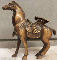 shipping Chinese China Folk Culture Pure Handmade Old Bronze Brass Statue Horse Sculpture