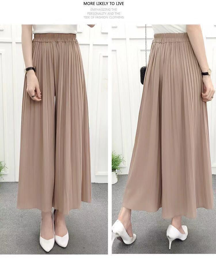 Nantersan pleated loose thin wide leg pants female nine pants thin section breathable casual pants 25
