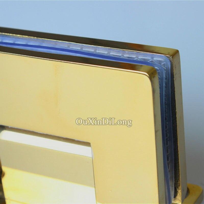 Caliente 2 unids Acero inoxidable titanio oro sin marco ducha ...