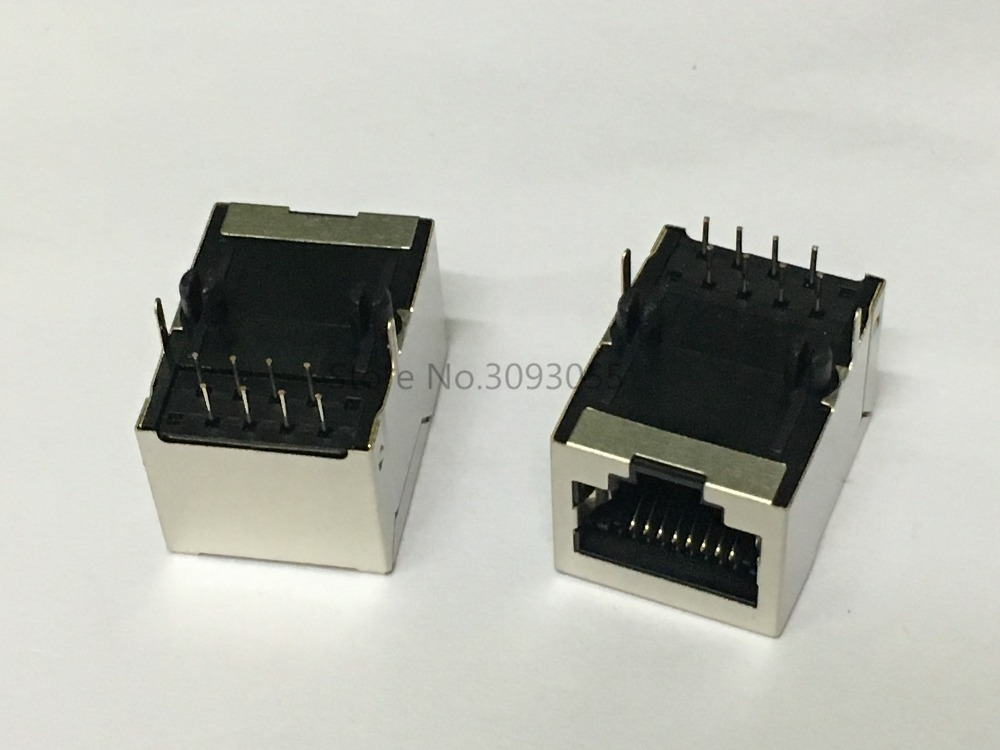Short 2PCS Side entry RJ45 Modular Network PCB Jack 8P LAN Connector