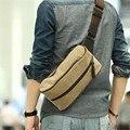 Marcas famosas 2016 Novos Homens Do Vintage Da Lona TravelRiding Alta Capacidade Ombro Sling Messenger Bag Peito