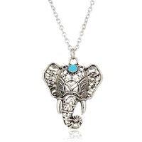 hot-vintage-elephant-pendant-necklace-boho-antique-blue-stone-choker-necklace-bohemia-bar-necklace-4nd112