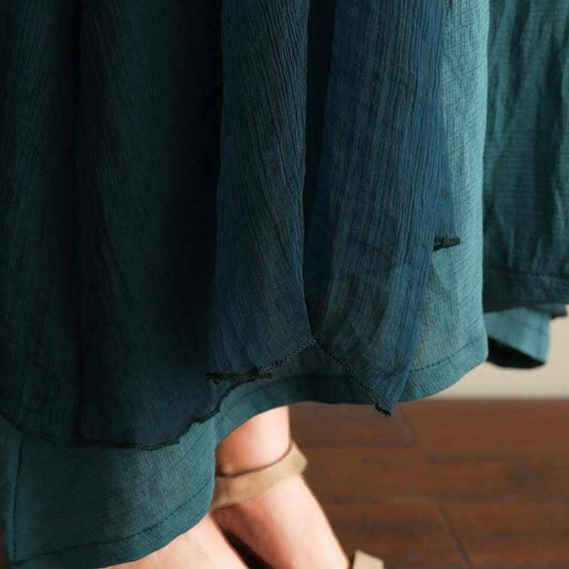 Большие размеры Wonem винтажное платье из двух предметов с вышивкой в национальном стиле Лето 2019, большие размеры, женское хлопковое льняное платье Летучая мышь 3XL