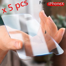 5Pcs For iphone XS Max X XR 8 Plus For Apple iphone 4 4s 5 5s 5c SE 6 6s 7 Plus Screen Protector Tempered glass 2.5D apple чехол moschino iphone6 5s 5c plus 4s