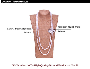 Image 5 - Zhboruini أزياء اللؤلؤ قلادة طويلة عالية guality الطبيعية المياه العذبة بيرل 925 فضة مجوهرات bowknot النساء قلادة