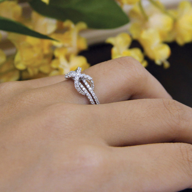 4.2CT Round Cut Simulated Diamond 925 Sterling Silver with Gold Wedding Engagement Ring