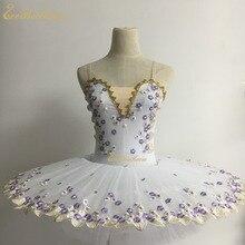 Балетная профессиональная танцевальная одежда для взрослых, балетная пачка, Лебединое озеро, Цветочное платье для девочек, балетный сценический костюм для детей