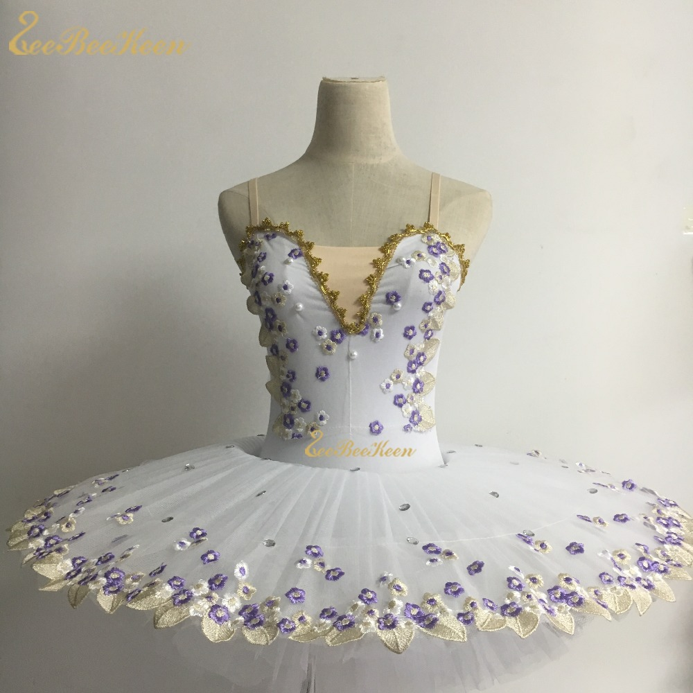 Adult Ballet Professional Dancewear Ballet Tutu Swan Lake Flower Dress Girl Bailarina Ballet Stage Performance Costume For Kids