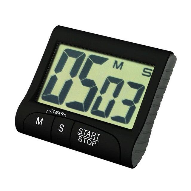 Horloge De Comptage De Temps Portable Compte à Rebours Numérique Horloge  Grand écran LCD Alarme Pour
