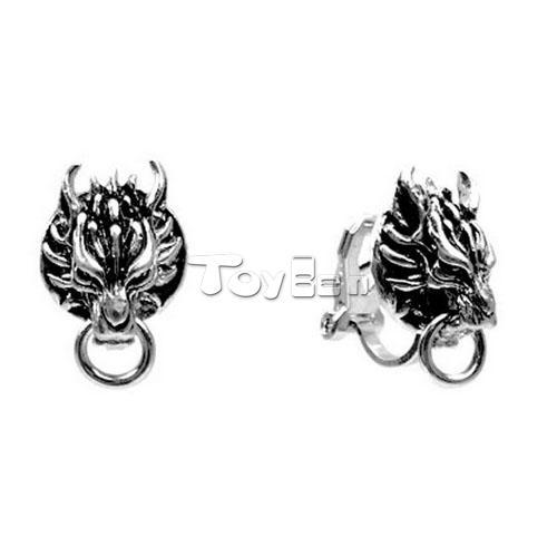 Game Final Fantasy VII 7 Cloud Wolf 1 Pair of Clip ons