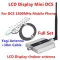 Pantalla LCD! el más nuevo Mini 4G LTE DCS 1800 Mhz Teléfono Móvil Amplificador de Señal, DCS Amplificador de Señal Del Repetidor + Antena Yagi Cable